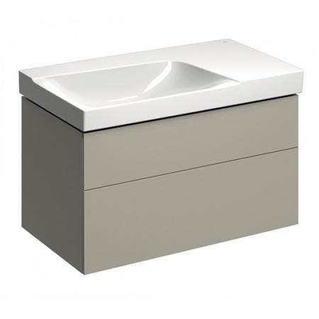 Keramag Xeno2 Szafka podumywalkowa 88x46,2x53 cm 2 szuflady lewa, ciepły szary mat 807591000