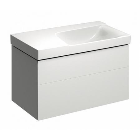 Keramag Xeno2 Szafka podumywalkowa 88x46,2x53 cm 2 szuflady prawa, biały połysk 807690000
