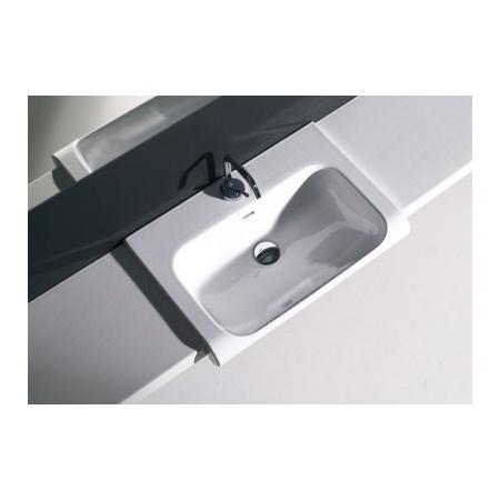 Kerasan Agua Libre Blat ceramiczny pod umywalkę, biały matowy 341730