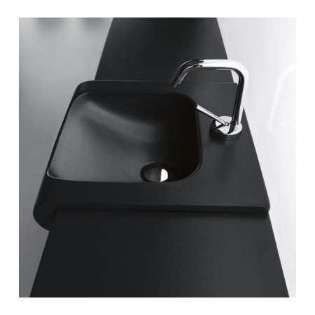 Kerasan Agua Libre Blat ceramiczny pod umywalkę, czarny matt 341631