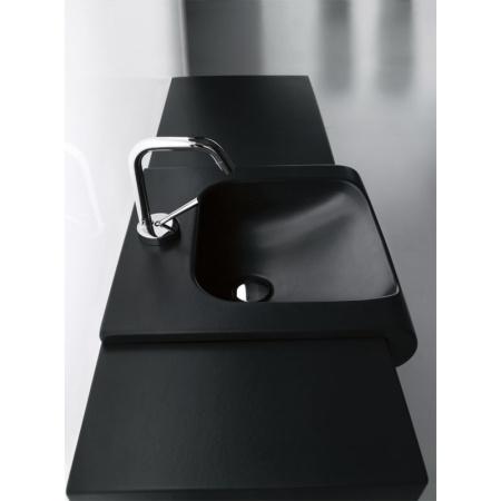 Kerasan Agua Libre Blat ceramiczny pod umywalkę, czarny połysk 341504
