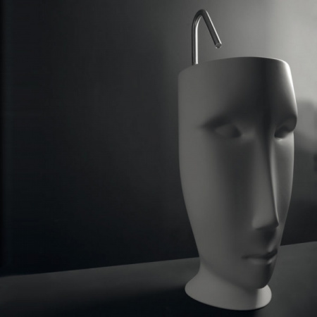 Kerasan Artwork Moloco Umywalka wolnostojąca 51x45x94,5 cm, biała 474001