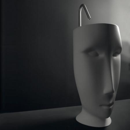 Kerasan Artwork Moloco Umywalka wolnostojąca 51x45x94,5 cm, biała 4741K01