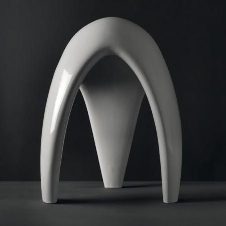 Kerasan Artwork Moscardino Krzesło łazienkowe 40x40x61,5 cm na trzech nogach, białe 470201