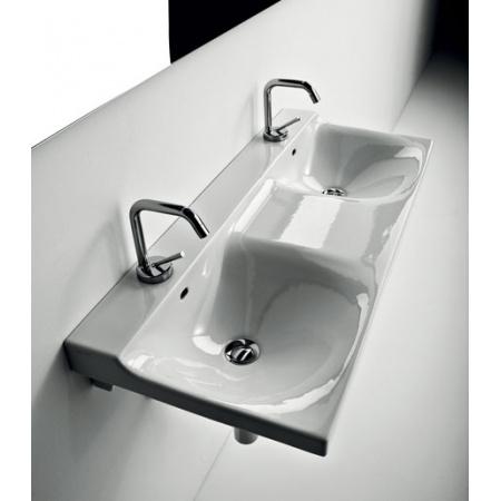 Kerasan Aqua Libre Buddy Umywalka wisząca 100x42x18,5 cm, biała 3404