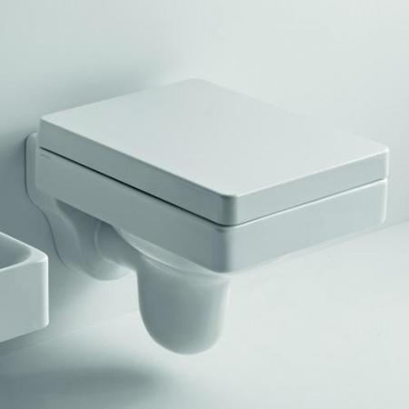 Kerasan Cento Zestaw Toaleta WC podwieszana 51x35 cm z deską sedesową zwykłą, biały 3514+358701