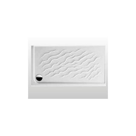 Kerasan Dune Brodzik prostokątny 75x140x8 cm, biały 1329