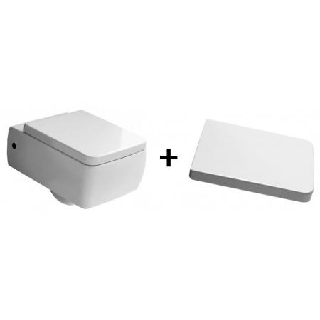 Kerasan Ego Zestaw Toaleta WC podwieszana 50x36 cm z deską sedesową wolnoopadającą, biały 3215+328801