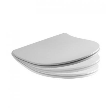 Kerasan Flo Deska WC wolnoopadająca Slim, biała zawiasy chrom 319101