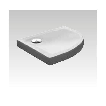 Kerasan H9 Brodzik półokrągły z powłoką antypoślizgową 100x100x9 cm, biały 705017