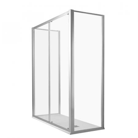 Kerasan NoLita Drzwi prysznicowe przesuwne do ścianki bocznej 170x200 cm, profile chrom szkło przejrzyste 745508