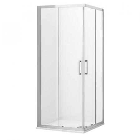 Kerasan NoLita Drzwi prysznicowe przesuwne narożne 100x200 cm z powłoką EasyClean, profile chrom szkło przejrzyste 745706