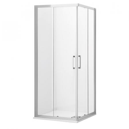 Kerasan NoLita Drzwi prysznicowe przesuwne narożne 140x200 cm z powłoką EasyClean, profile chrom szkło przejrzyste 745710