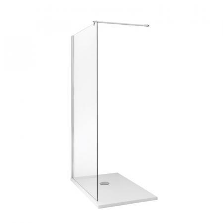 Kerasan NoLita Ścianka prysznicowa narożna 140x200 cm, profile chrom szkło przejrzyste 745808