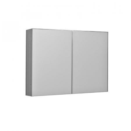 Kerasan NoLita Szafka lustrzana 90x12x70 cm, aluminium 921601