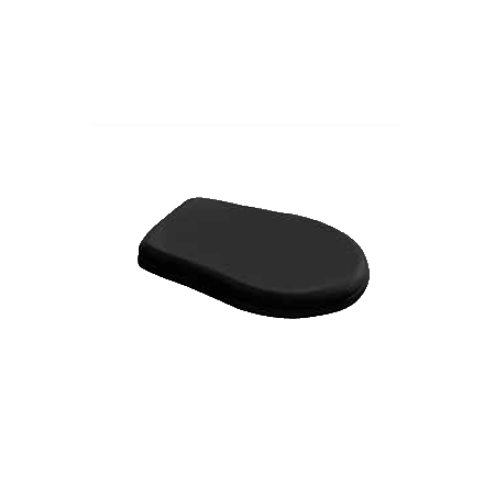 Kerasan Retro Deska sedesowa wolnoopadająca, czarna zawiasy chrom 108804