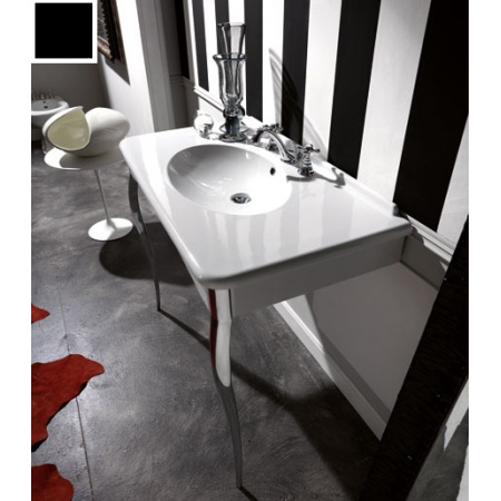 Kerasan Retro Konsola do umywalki 100x55 cm, czarny błyszczący 104904