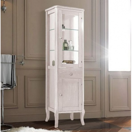 Kerasan Retro Szafka stojąca z witryną 165x46,5 cm, biała matowa 731530