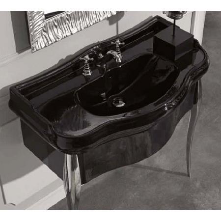 Kerasan Retro Umywalka wisząca 73x54 cm, czarna błyszcząca 104704
