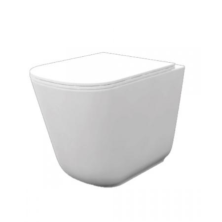 Kerasan Tribeca Toaleta WC stojąca 55x35 cm Norim bez kołnierza, biała 511801