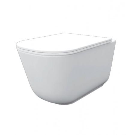 Kerasan Tribeca Zestaw Toaleta WC podwieszana 54x35 cm Norim bez kołnierza z deską sedesową wolnoopadającą Slim, biały 511401+519101