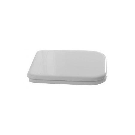 Kerasan Waldorf Deska sedesowa wolnoopadająca, biała zawiasy brązowe 418601