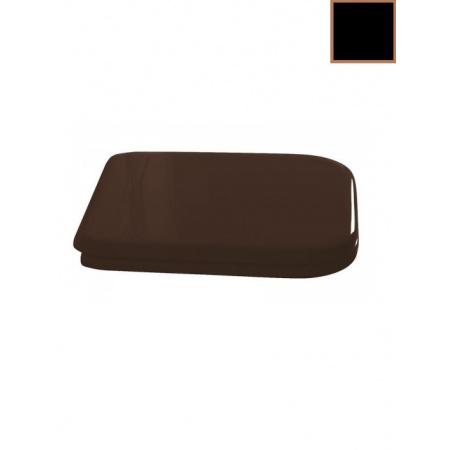 Kerasan Waldorf Deska sedesowa wolnoopadająca, czarna zawiasy brązowe 418604