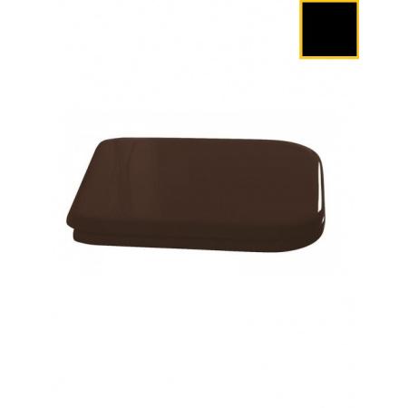 Kerasan Waldorf Deska sedesowa wolnoopadająca, czarna zawiasy złote 418704