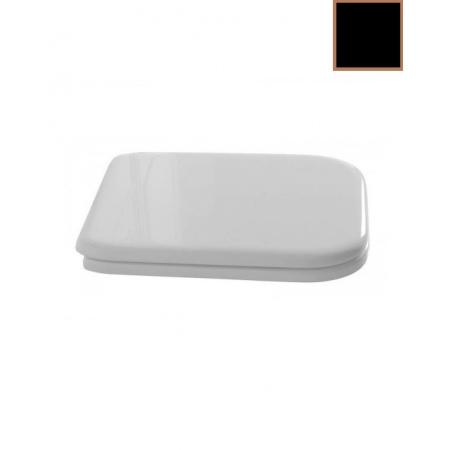 Kerasan Waldorf Deska sedesowa zwykła, czarna zawiasy brązowe 419304