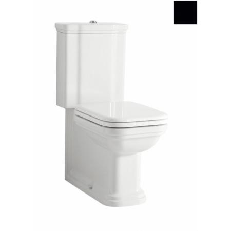 Kerasan Waldorf Miska WC kompakt 68x40cm, czarny połysk 411704