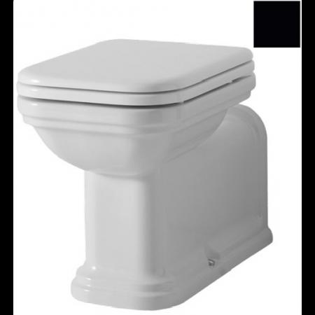 Kerasan Waldorf Miska WC stojąca 65x37cm, czarny połysk 411604
