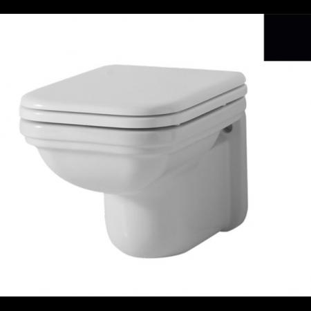 Kerasan Waldorf Miska WC wisząca 55x37cm, czarny połysk 411504