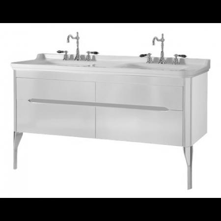 Kerasan Waldorf Szafka pod umywalkę 144x50x51cm z dwoma szufladami i dwoma drzwiczkami, biała matowa 919130
