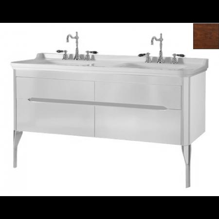 Kerasan Waldorf Szafka pod umywalkę 144x50x51cm z dwoma szufladami i dwoma drzwiczkami, orzech 919146