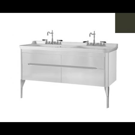 Kerasan Waldorf Szafka pod umywalkę 144x50x51cm z dwoma szufladami i dwoma drzwiczkami, zielona 919152
