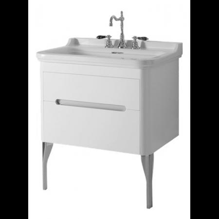 Kerasan Waldorf Szafka pod umywalkę 74x50x51cm z jedną szufladą i jednymi drzwiczkami, biała matowa 919330