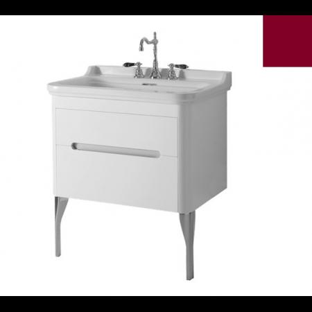 Kerasan Waldorf Szafka pod umywalkę 74x50x51cm z jedną szufladą i jednymi drzwiczkami, bordowa 919353