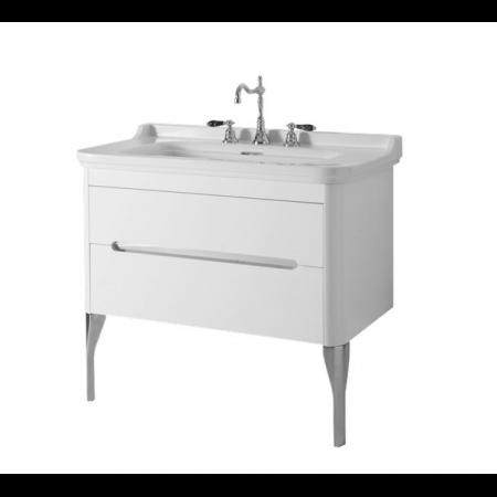 Kerasan Waldorf Szafka pod umywalkę 94x50x51cm z jedną szufladą i jednymi drzwiczkami, biała matowa 919230