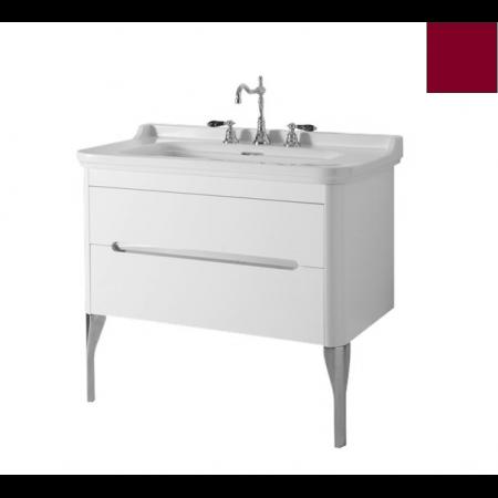 Kerasan Waldorf Szafka pod umywalkę 94x50x51cm z jedną szufladą i jednymi drzwiczkami, bordowa 919253