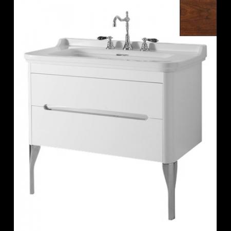 Kerasan Waldorf Szafka pod umywalkę 94x50x51cm z jedną szufladą i jednymi drzwiczkami, orzech 919246