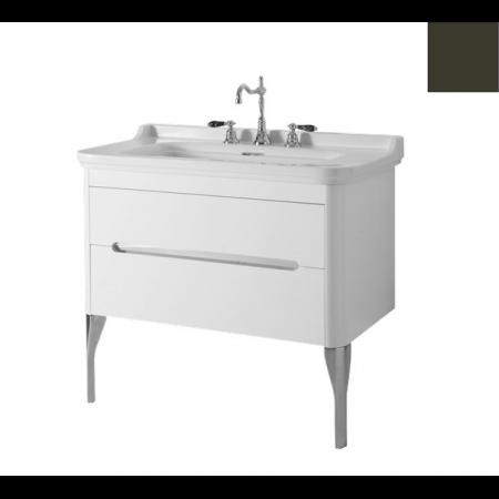 Kerasan Waldorf Szafka pod umywalkę 94x50x51cm z jedną szufladą i jednymi drzwiczkami, zielona 919252