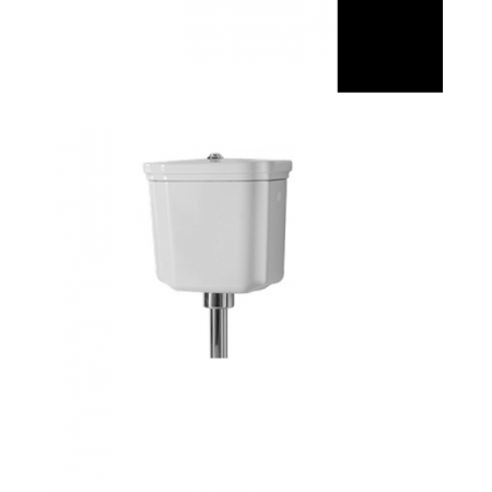 Kerasan Waldorf Zbiornik WC ceramiczny, czarny połysk 418204