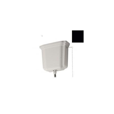 Kerasan Waldorf Zbiornik WC ceramiczny górnopłuk, czarny połysk 418004
