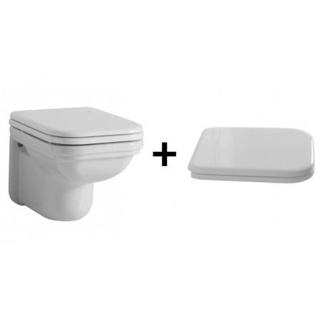 Kerasan Waldorf Zestaw Toaleta WC podwieszana 55x37 cm z deską sedesową wolnoopadającą, biały 411501+418801