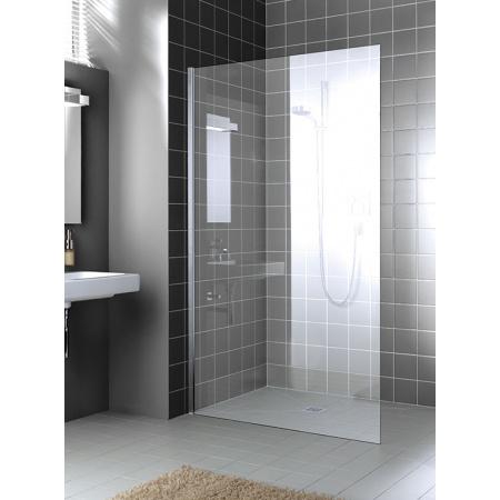 Kermi XC WIO Ścianka prysznicowa Walk-In 120x200 cm montaż bez stabilizatora, profile srebrny połysk szkło przezroczyste KermiClean XCWIO12020VPK