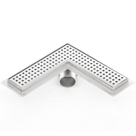 Kesmet Corner Odpływ prysznicowy narożny 100x100 cm typu KFL, stal nierdzewna 1000KFL_m