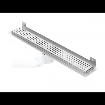 Kesmet Wall Silver Odpływ prysznicowy ścienny 50 cm typu KWF, stal nierdzewna 500KWF_p