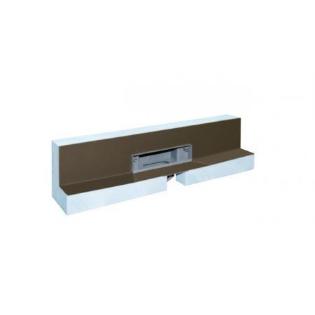 Kessel Scada Odpływ prysznicowy ścienny LED RGB z pokrywą do wklejenia płytki, szary 48005.41