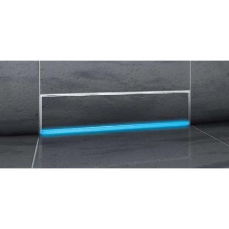 Kessel Scada Odpływ ścienny LED RGB z pokrywą do wklejenia płytki, z zamontowaną matą, szary 48003.41M