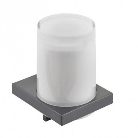 Keuco Edition 11 Dozownik do mydła, chrom czarny szczotkowany/szkło matowe 11152139000